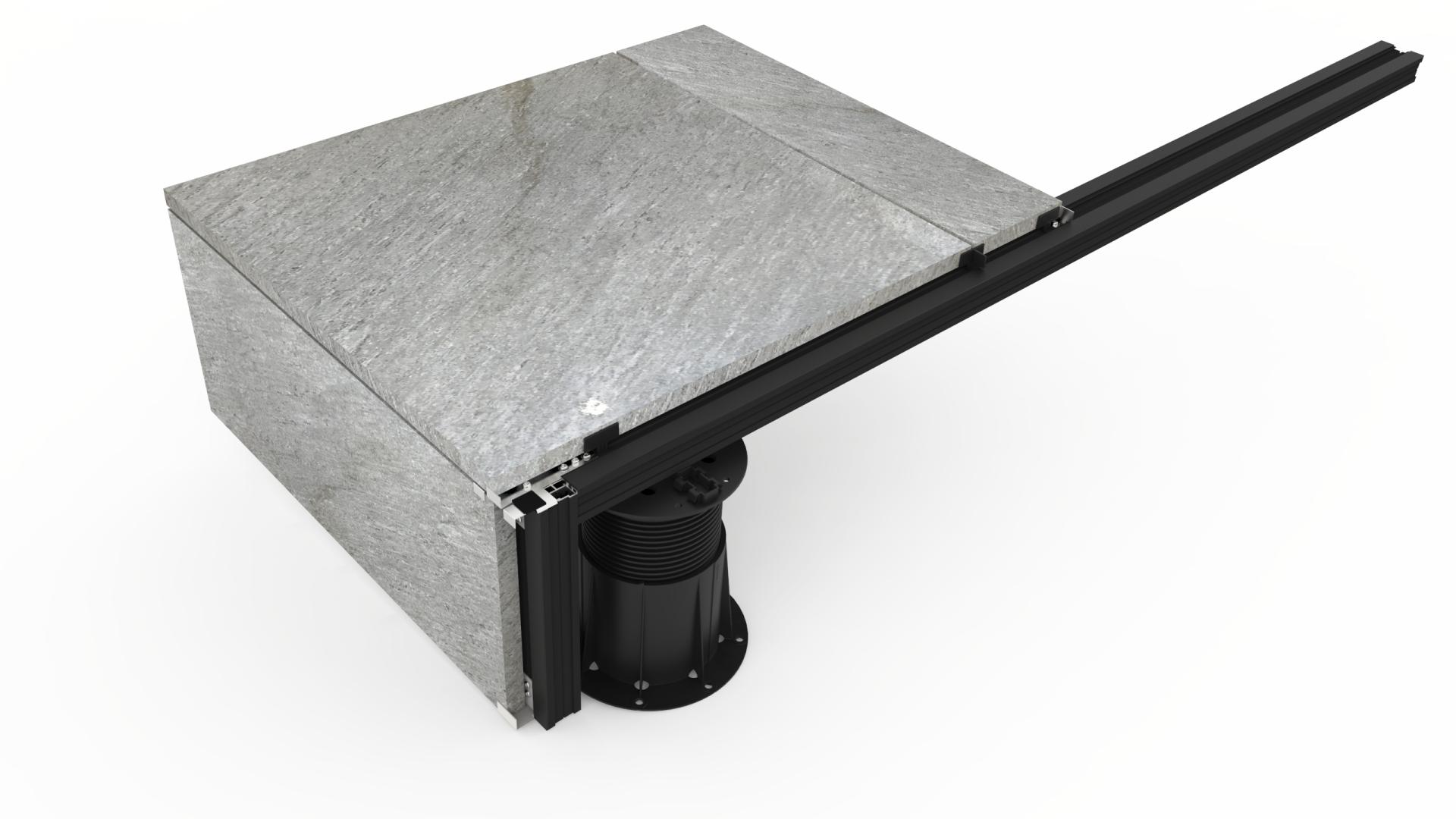 BUZON U-BRS - rychlejší a přesnější pokládka teras z dlažby i prken | Fasády&Terasy - U-BRS systém - pokládka dlažby na alu profily